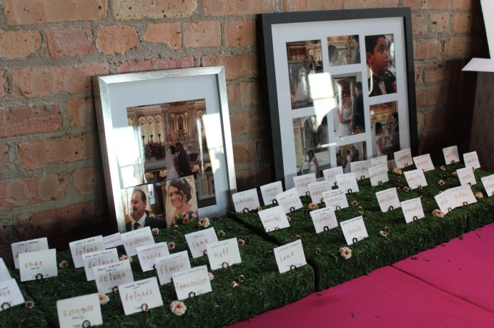 Escort Cards at the Bridgeport Art Center Wedding