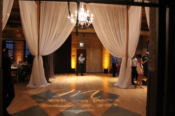 Gobo at the Bridgeport Art Center Wedding