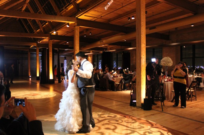 Noemi and James' first dance at their Bridgeport Art Center Wedding