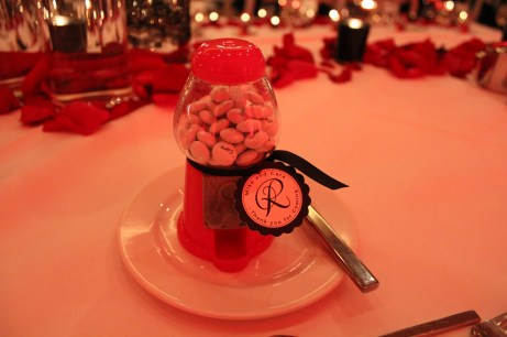 Gum ball machine Belvedere Banquets Wedding Favor