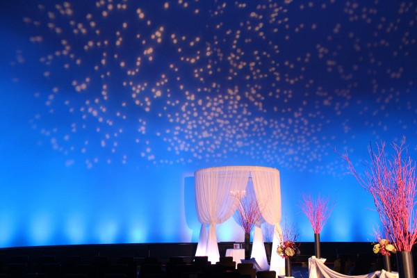 Wedding Ceremony Structure and Gobo Projection at Adler