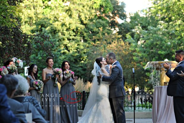 Newberry Library wedding with Ceremony at Washington Square Park