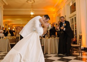 First Dance and Kiss at a Chicago History Museum Wedding