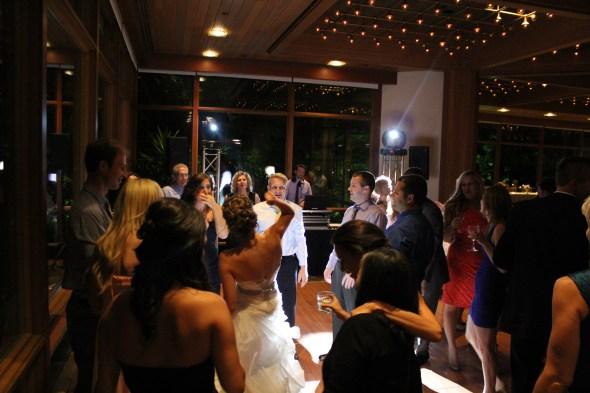 Bride on the dance floor at the Oak Brook Hyatt Lodge