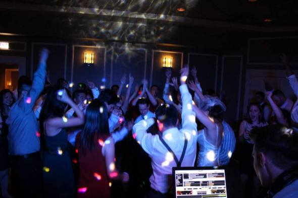 Packed dance floor at Chicago Wedding