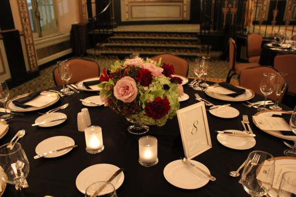 Centerpieces at the Palmer House Wedding
