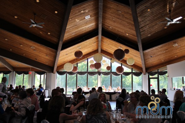 Paper lanterns at White Pines wedding