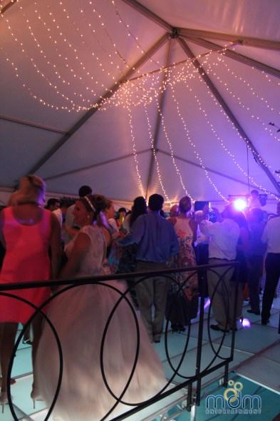 Chicago wedding lighting at backyard wedding