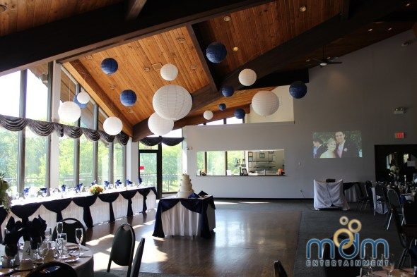 Hanging Paper Lantern at White Pines Wedding