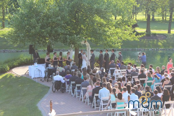 Outdoor wedding ceremony  at White Pines Wedding