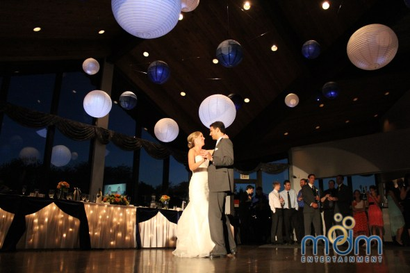 First Dance at White Pines Wedding