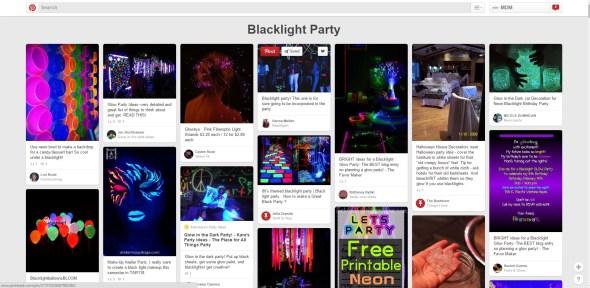 Blacklight Party Ideas