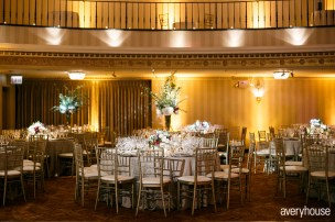 Intercontinental Chicago Wedding Up Uplighting and Pinspotting