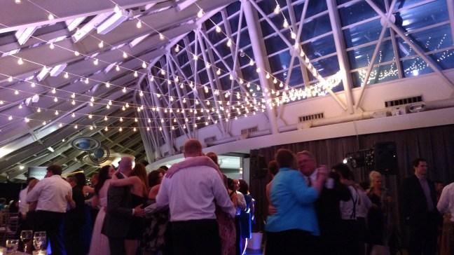 Adler Planetarium Wedding with String Lights