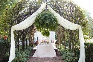 Drape for an Outdoor Wedding Reception