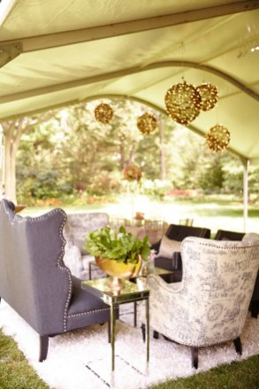 Grapevine Ball Chandeliers for a Rustic Chic Tent Wedding 2