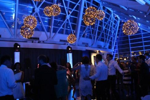 Grapevine Balls over dance floor