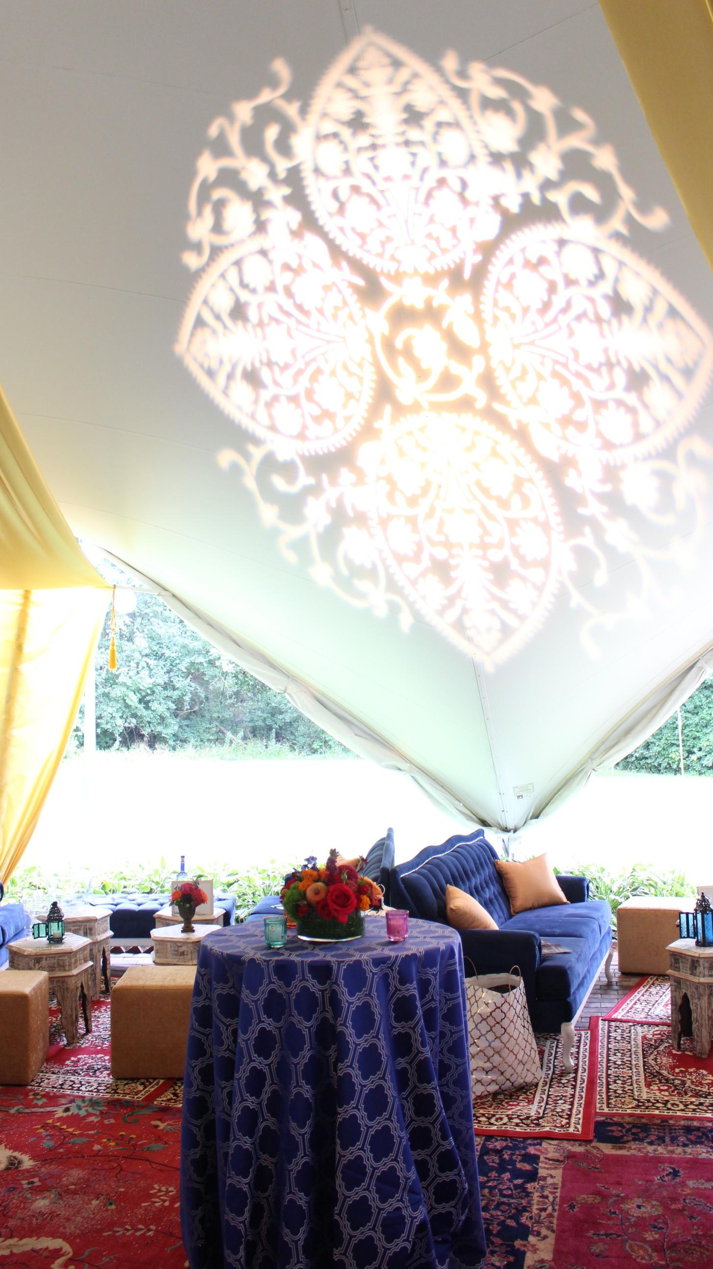 Lighting and Drape for a Moroccan Themed Wedding - MDM Entertainment