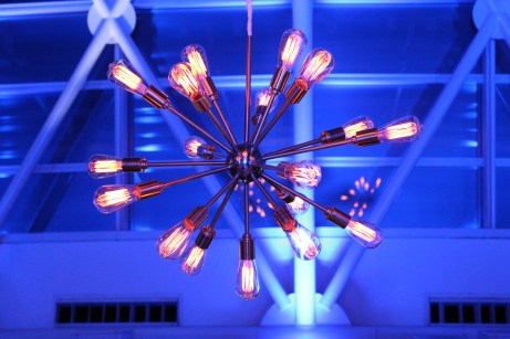Sputnik Chandelier for and Adler Planetarium Corporate Event