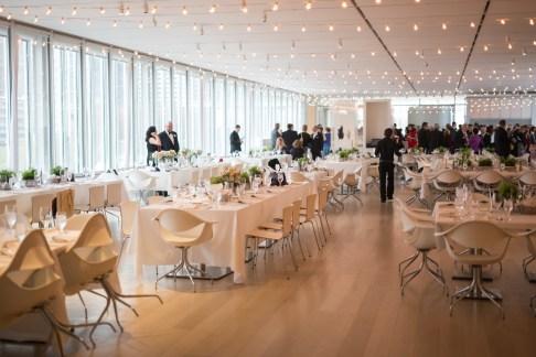 String Lights at Art Institute Wedding