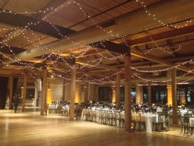 Twinkle Lights for a Bridgeport Art Center Wedding