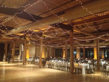 Twinkle Lights for a Bridgeport Art Center Wedding