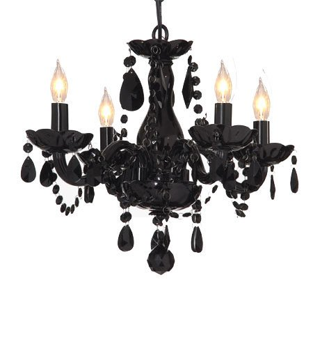 18 inch Black Crystal Chandelier