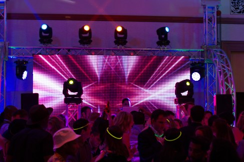 DJ, Lighting and LED Video Wall for a Corporate Event