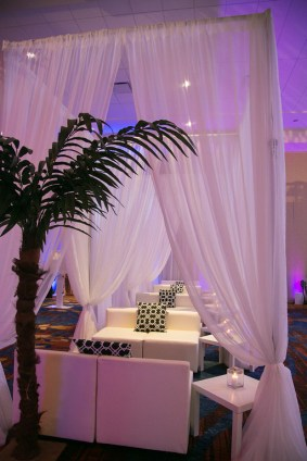 VIP Cabanas for a Corporate Event