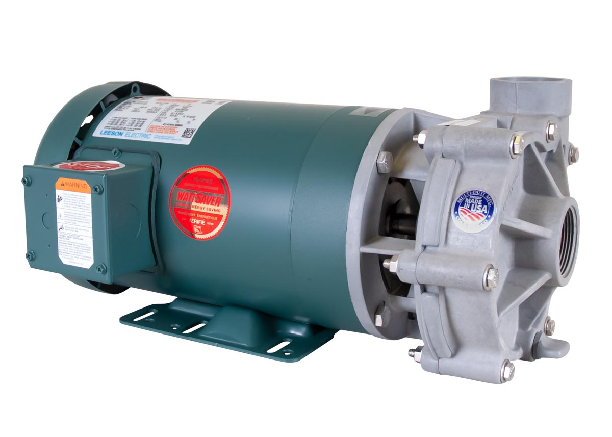 Advance 1000 Pump with green Leeson Motor left angle view