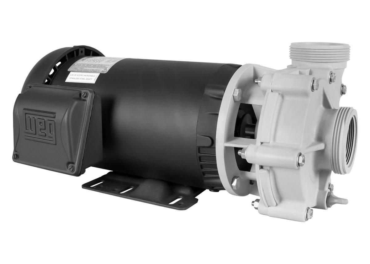 Advance 4000 Pump with black WEG Motor left angle view