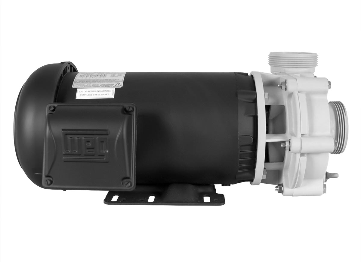 Advance 4000 Pump with black WEG Motor left side view