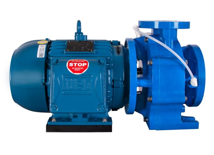 Genesys 3x2x6 with blue WEG Motor left side view