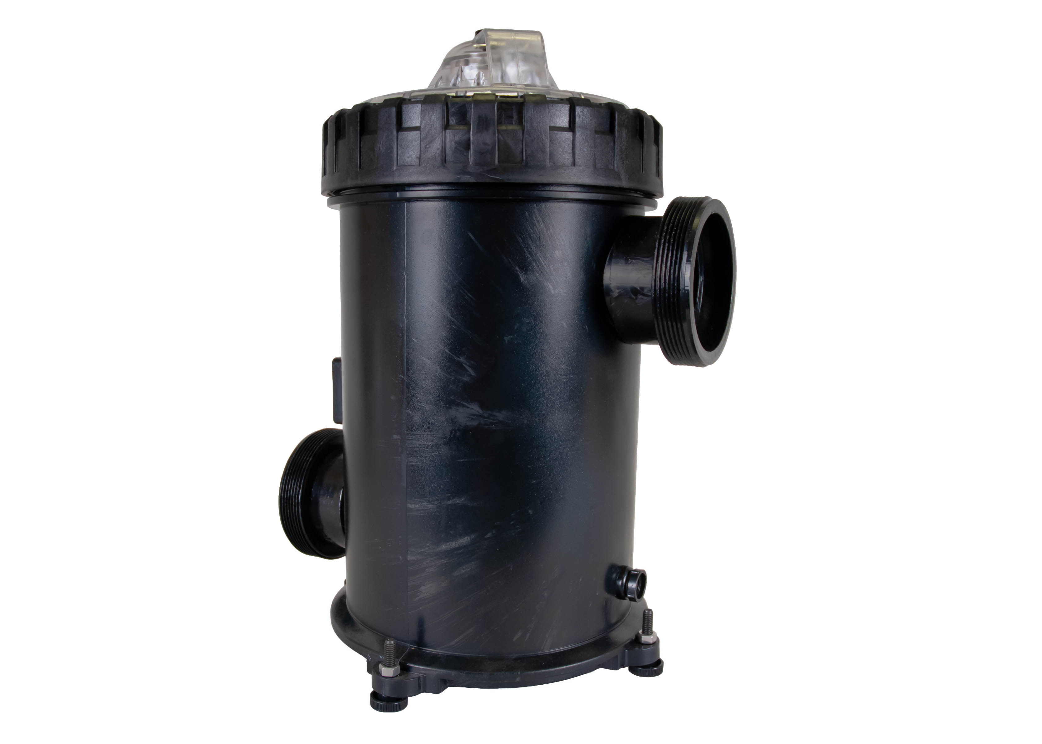 500 cubic liter Strainer Basket with 3 inch ports left angle view