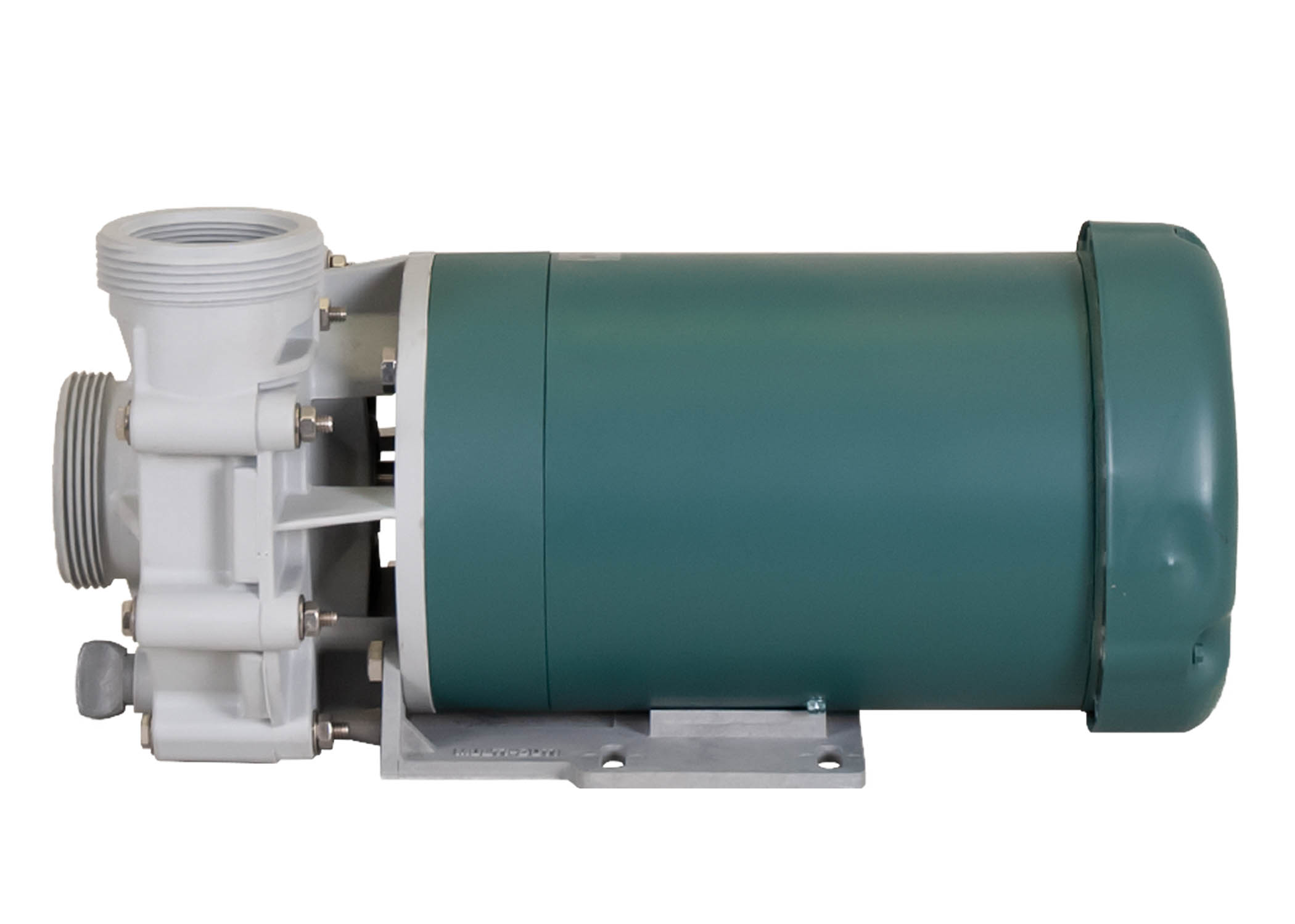 Advance 4000 Pump with green Leeson Motor right side view