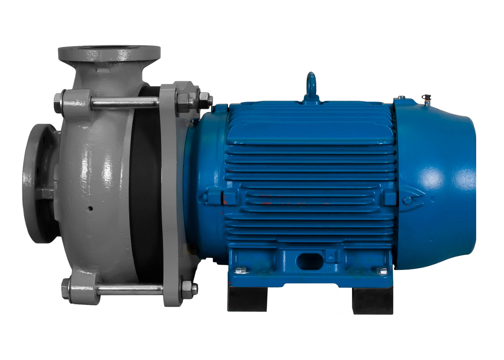 C-Shell 4x3-10 Pump with blue WEG Motor right side view