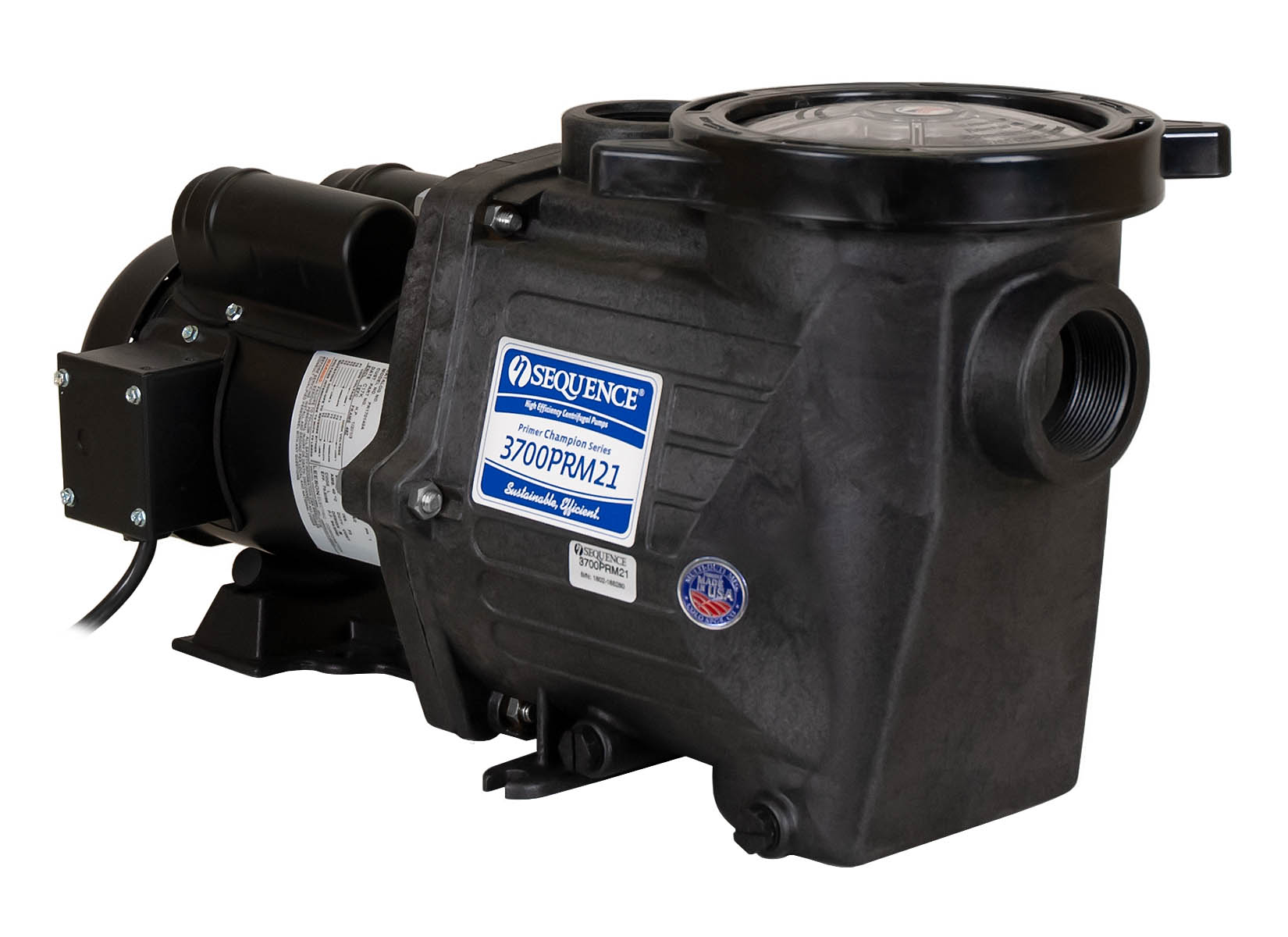 Sequence Primer Champion Pump with black Leeson Motor left angle view