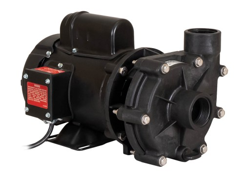 ValuFlo 1000 Pump with Leeson Motor left angle view