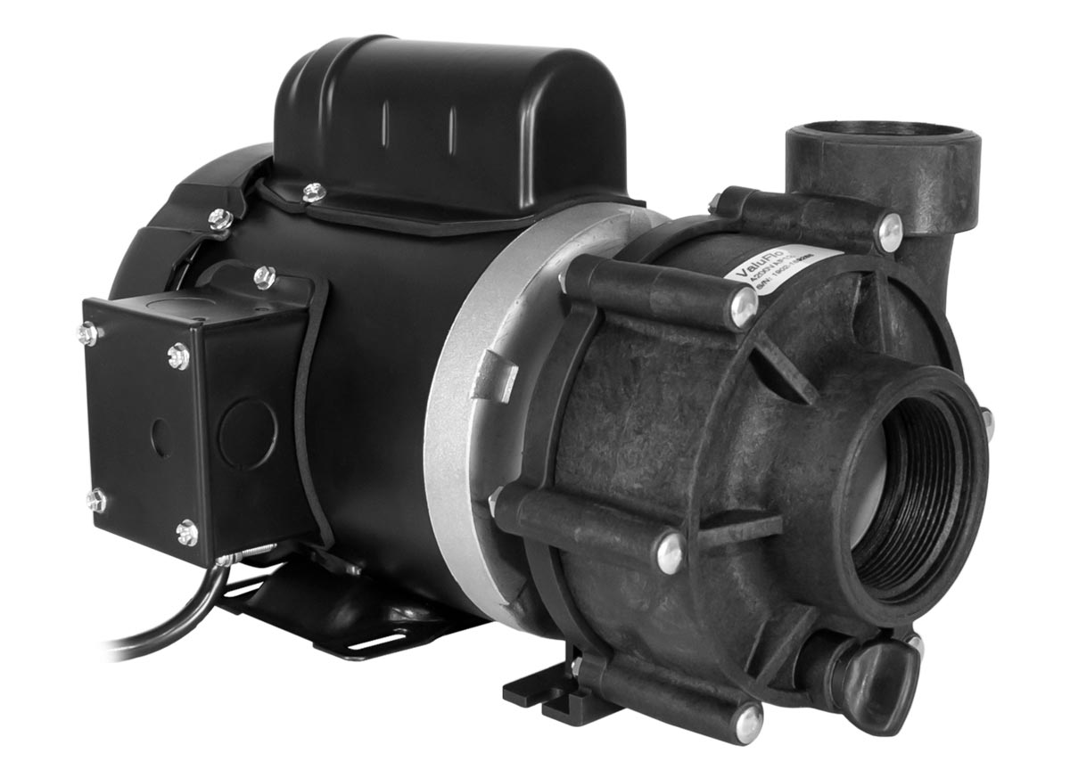 ValuFlo 750 Pump with black Marathon Motor left angle view