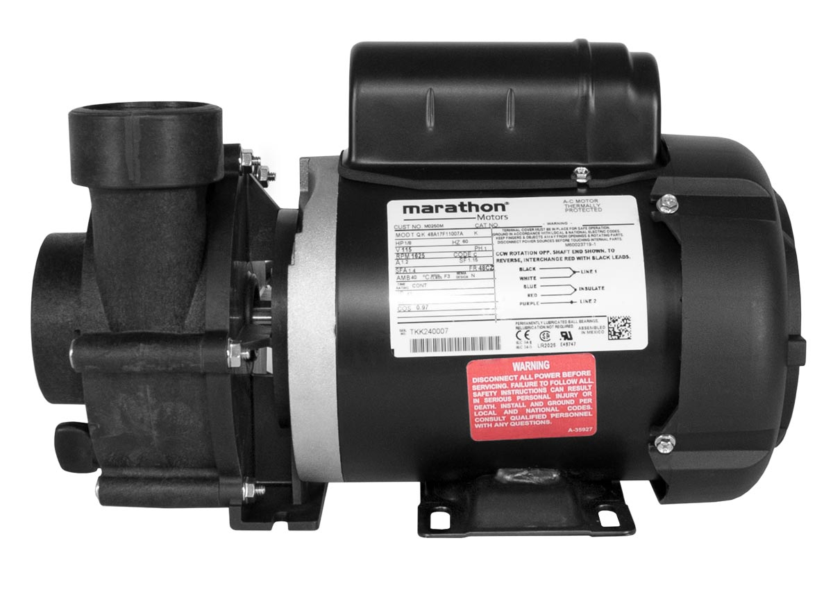 ValuFlo 750 Pump with black Marathon Motor right side view