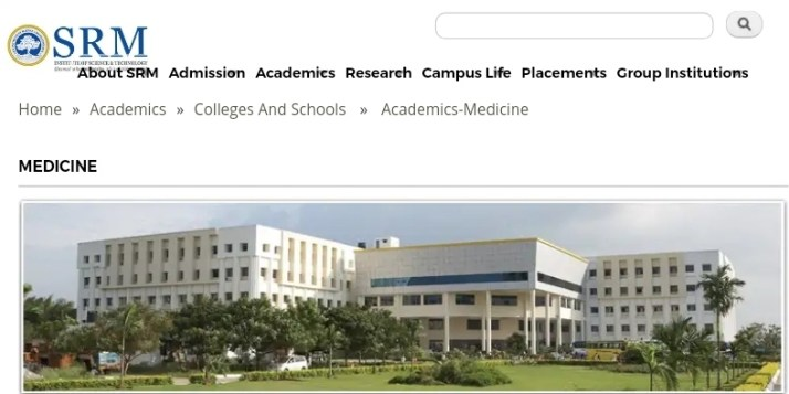 MD Psychiatry at SRM Medical College Chennai