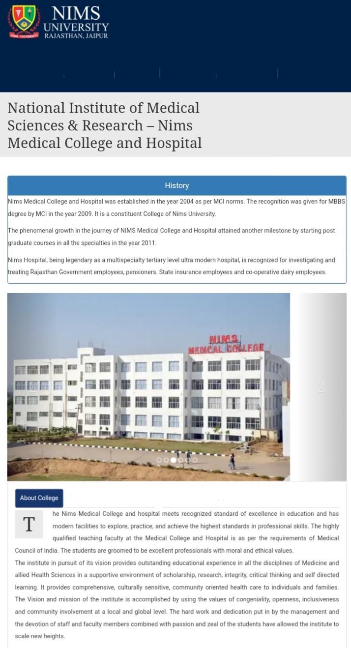 NIMS Medical College