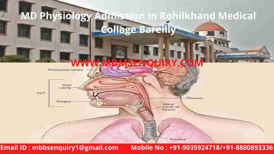 MD Physiology Admission in Rohilkhand Medical Collage Bareilly