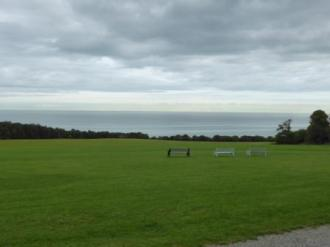 View of the Irish Sea looking out from the front of the castle