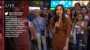 Highwire Live in Times Square complete graphics package