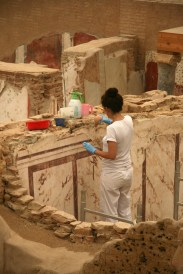 Efes, Restauratorii la Casele de pe deal