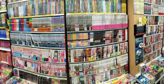 Manga - în micul magazin în gara Kyoto