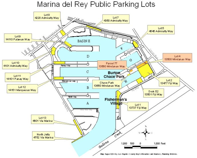 Marina del Rey public_parking_lots