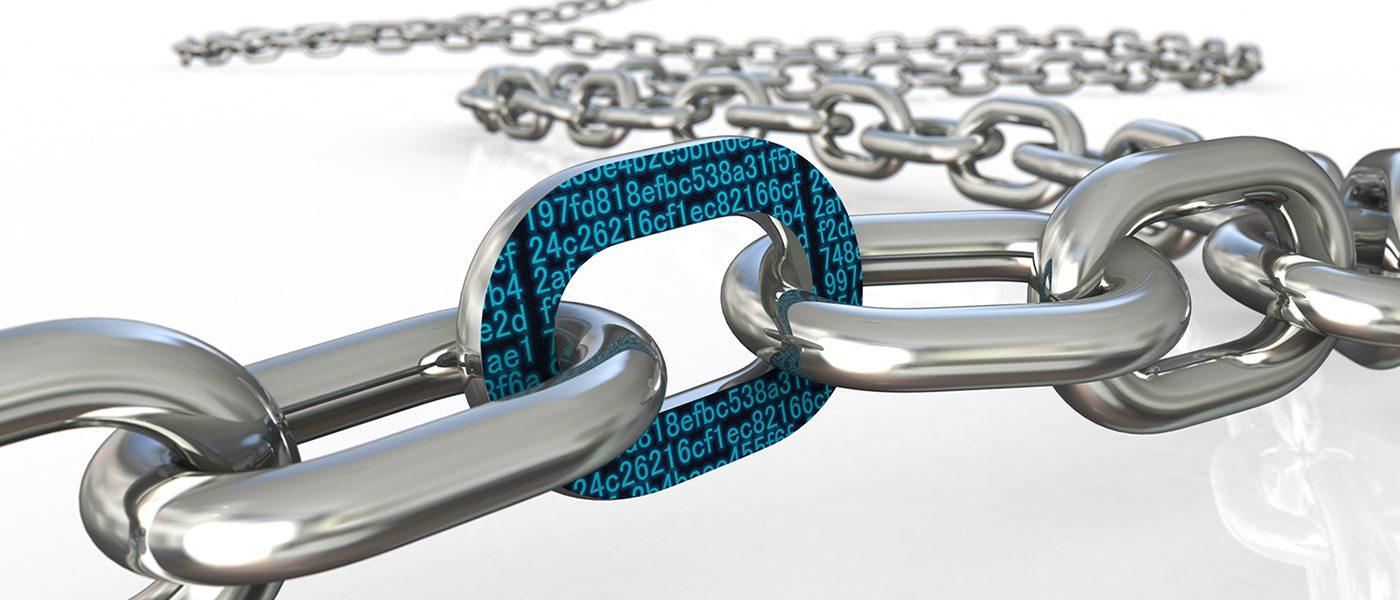 Block chain concept graphic