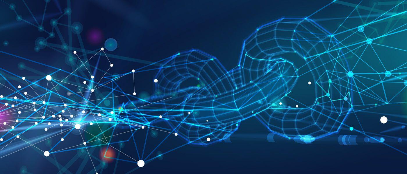 abstract blockchain illustration